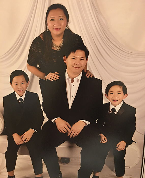 Connie Trieu with family
